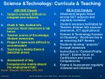 science technology curricula teaching