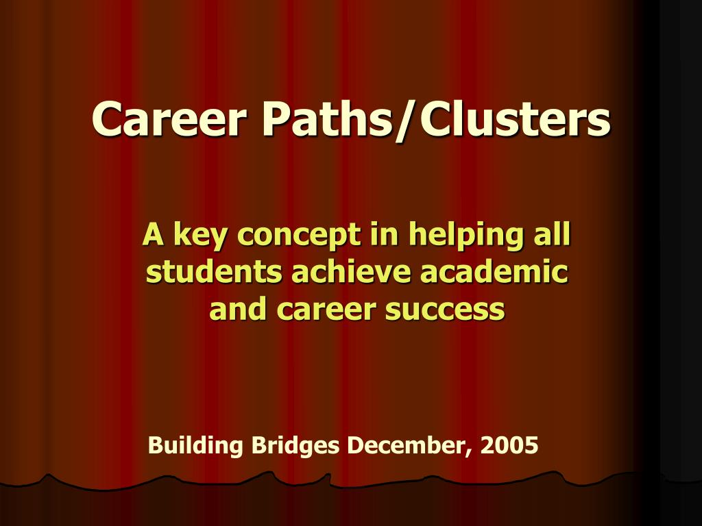 career paths clusters l.