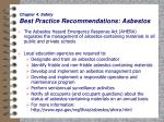 chapter 4 safety best practice recommendations asbestos