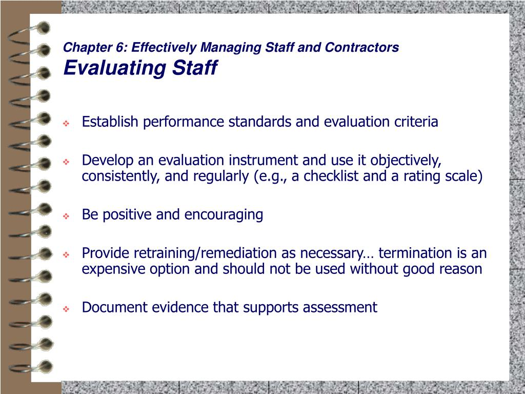 Chapter 6: Effectively Managing Staff and Contractors