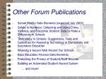 other forum publications