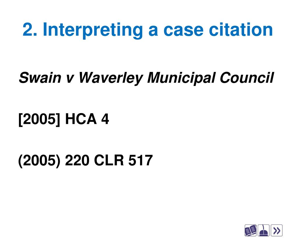 2. Interpreting a case citation