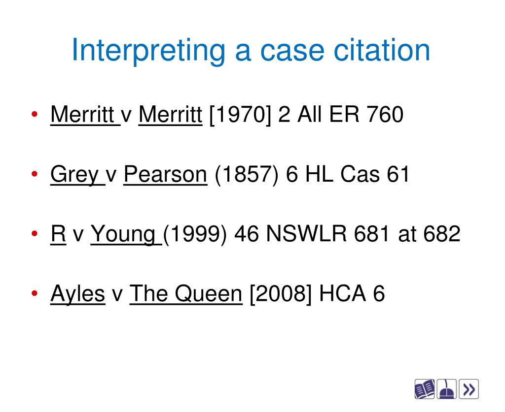 Interpreting a case citation
