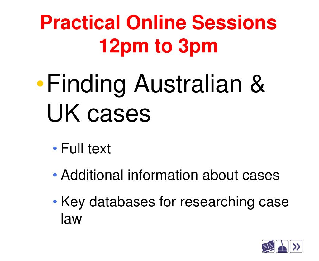 Practical Online Sessions
