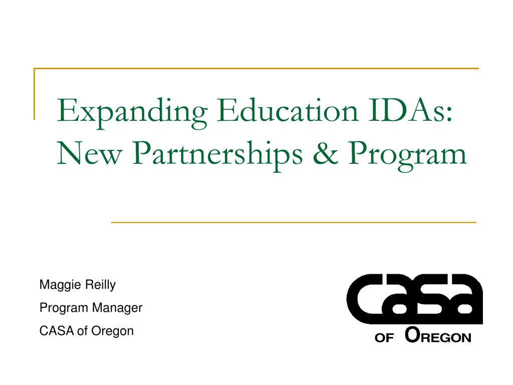 expanding education idas new partnerships program l.