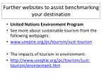 further websites to assist benchmarking your destination