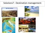solutions destination management