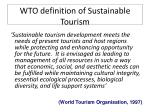 wto definition of sustainable tourism