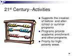 21 st century activities