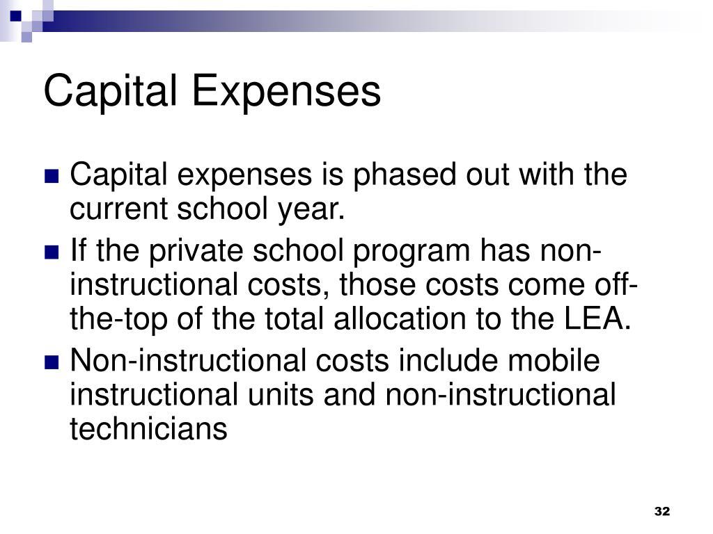 Capital Expenses