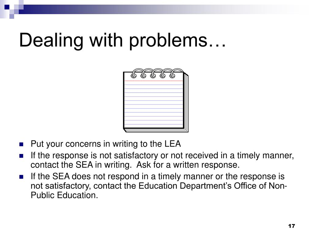 Dealing with problems…
