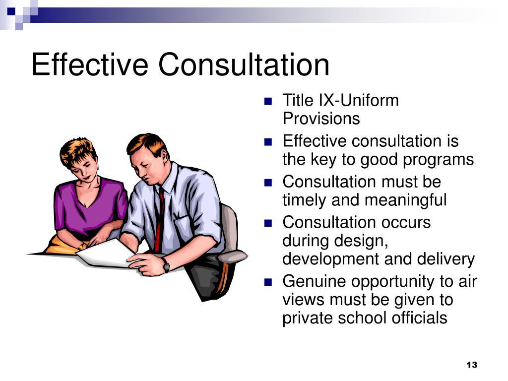 Effective Consultation