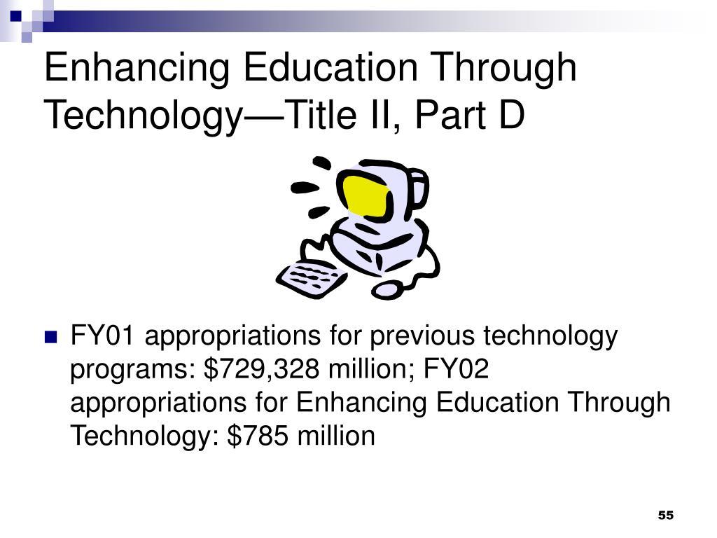 Enhancing Education Through Technology—Title II, Part D