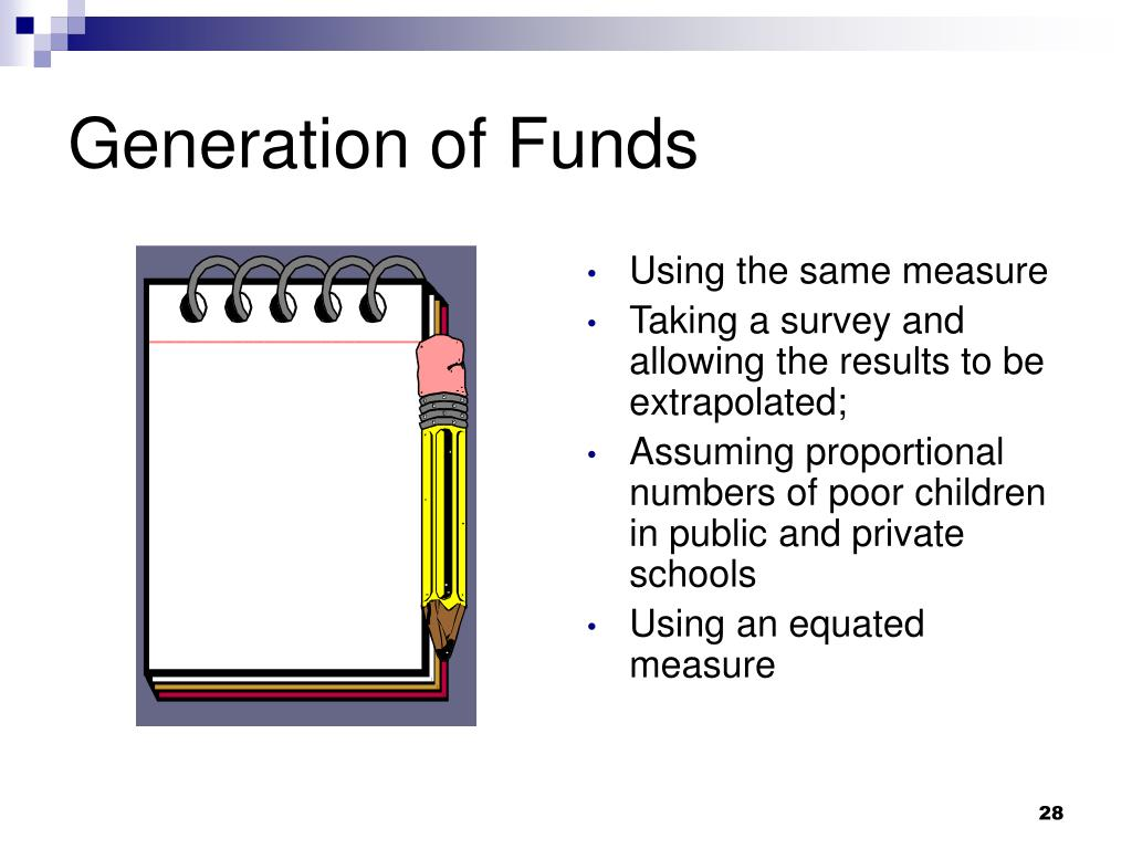 Generation of Funds