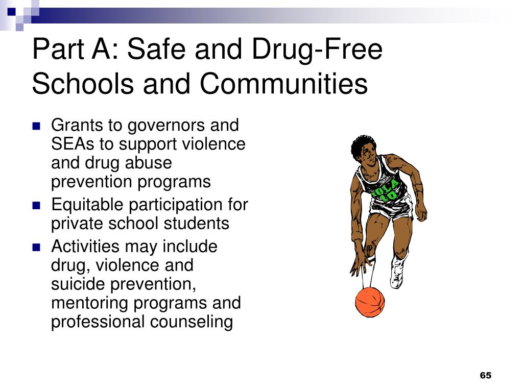 Part A: Safe and Drug-Free Schools and Communities