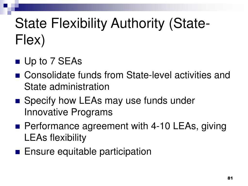 State Flexibility Authority (State-Flex)