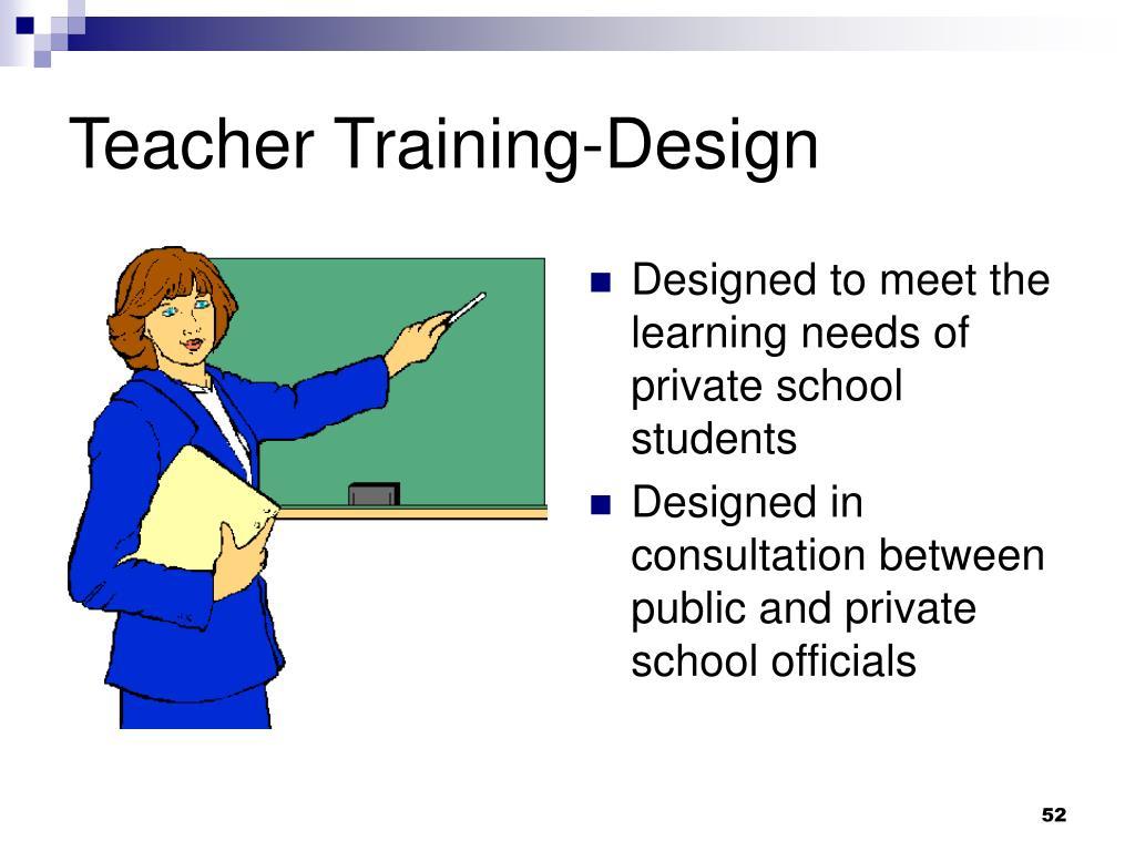 Teacher Training-Design