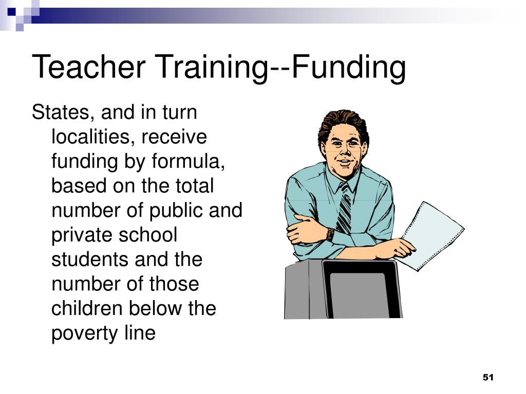 Teacher Training--Funding