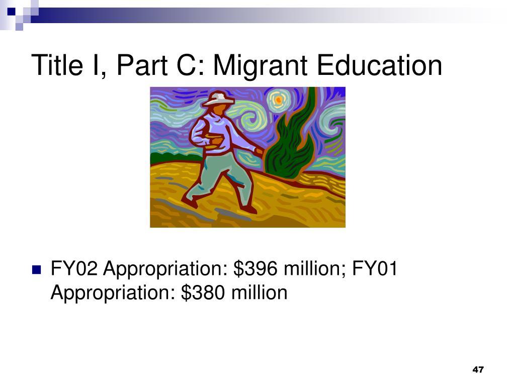 Title I, Part C: Migrant Education