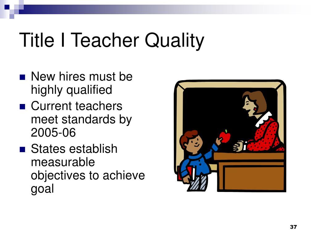 Title I Teacher Quality