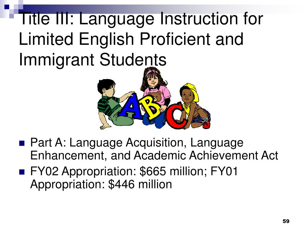 Title III: Language Instruction for Limited English Proficient and Immigrant Students