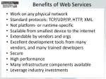 benefits of web services