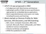 dpws 2 nd generation