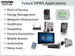 future dpws applications