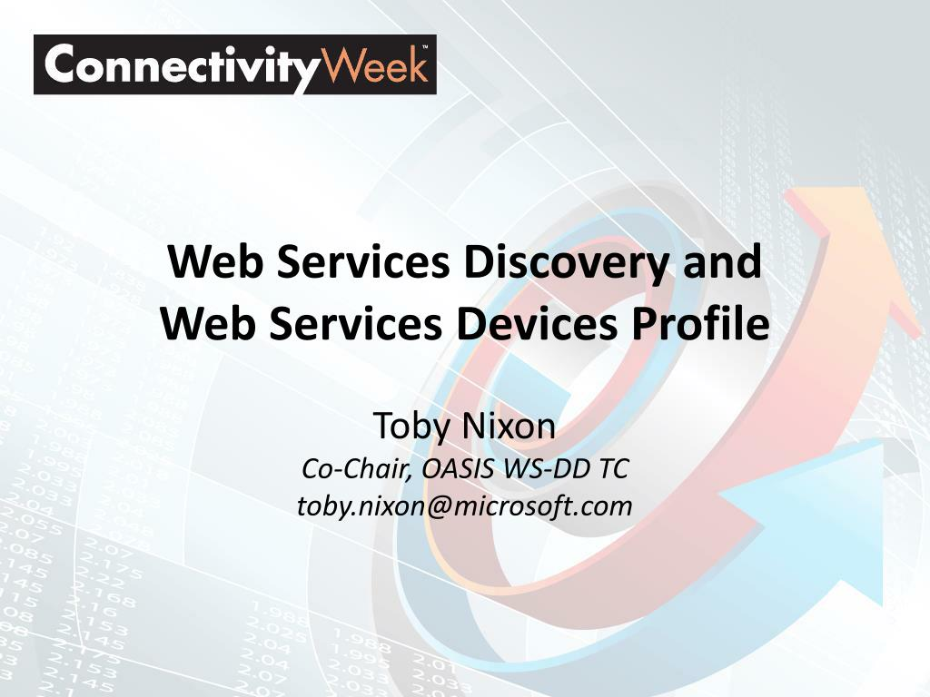 web services discovery and web services devices profile l.