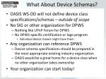 what about device schemas