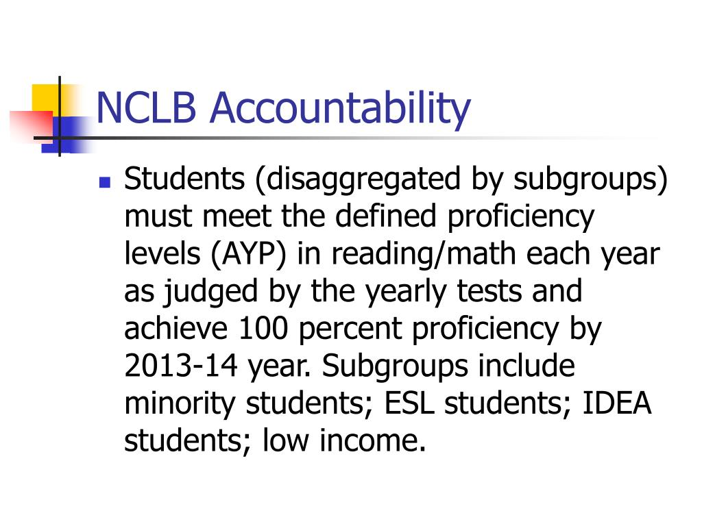 NCLB Accountability