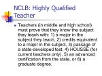 nclb highly qualified teacher10