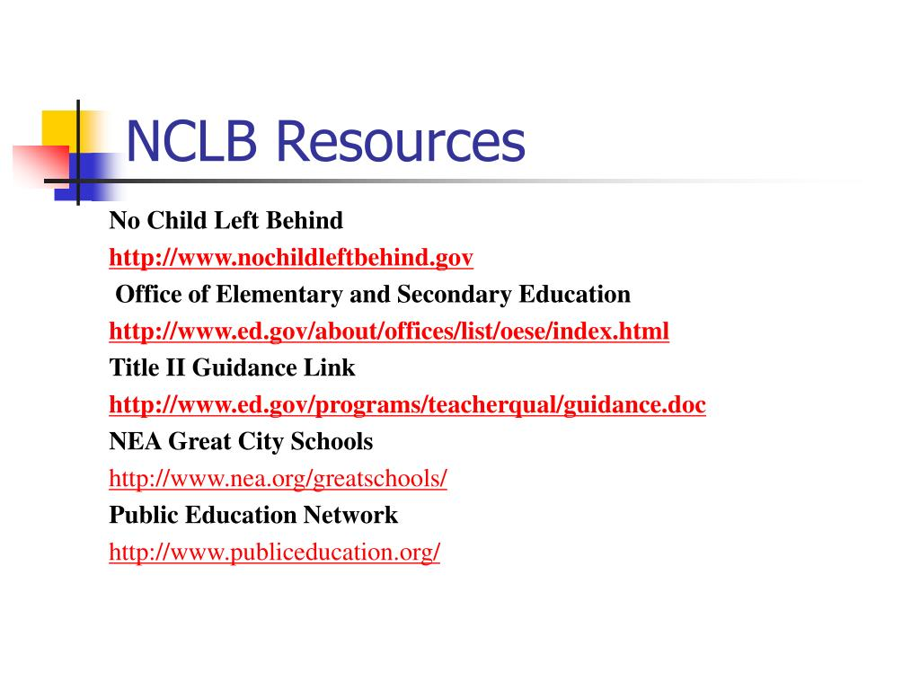 NCLB Resources