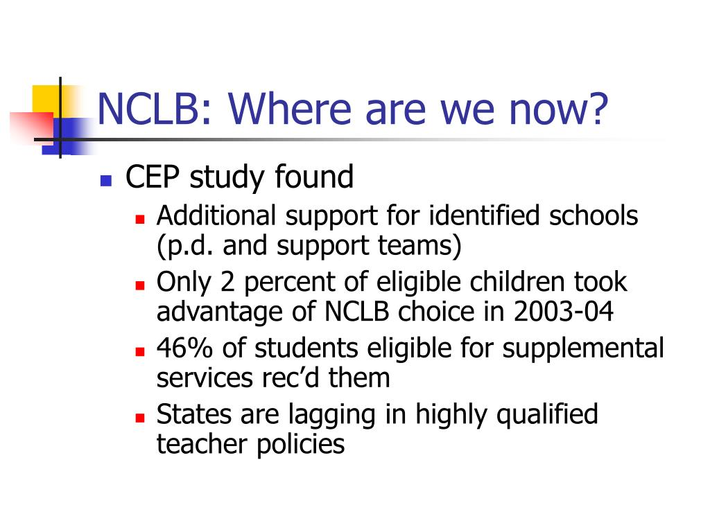 NCLB: Where are we now?