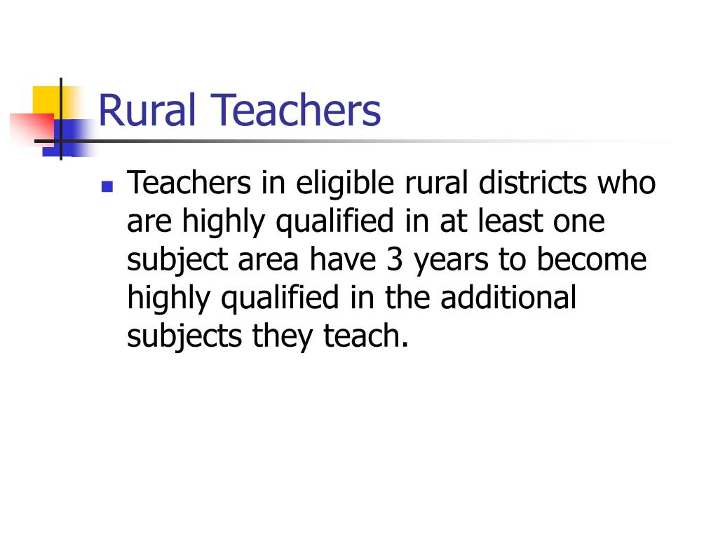 Rural Teachers