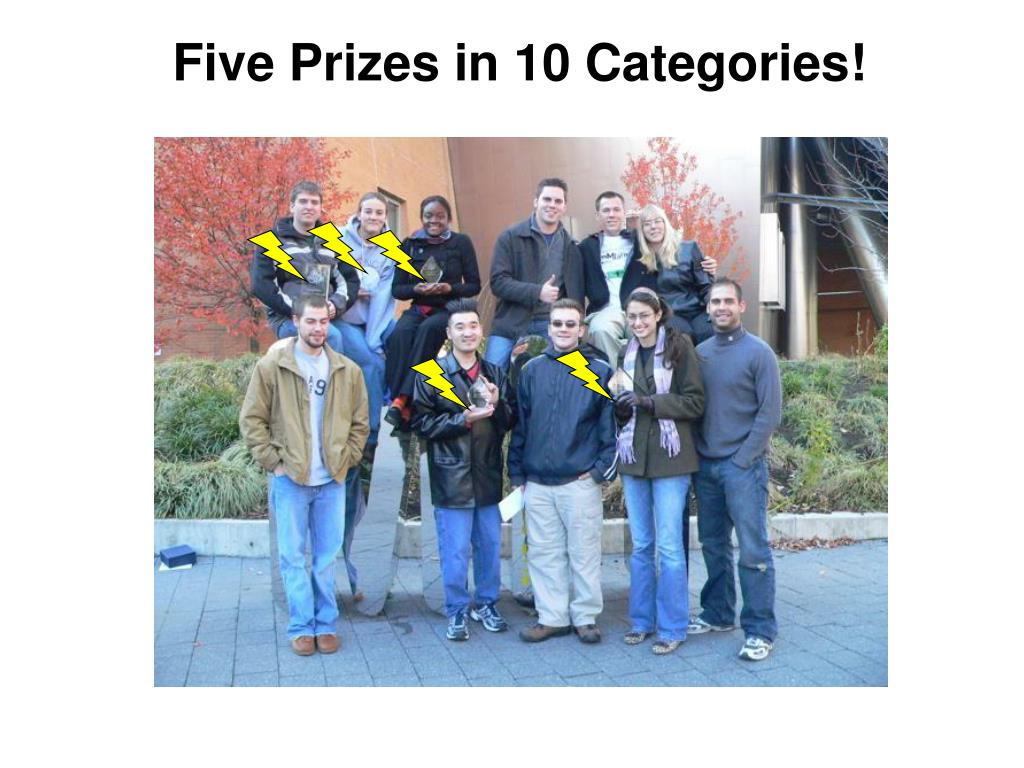 Five Prizes in 10 Categories!