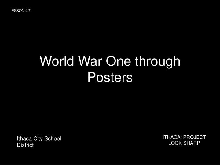world war one through posters n.