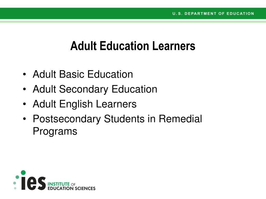 Adult Education Learners