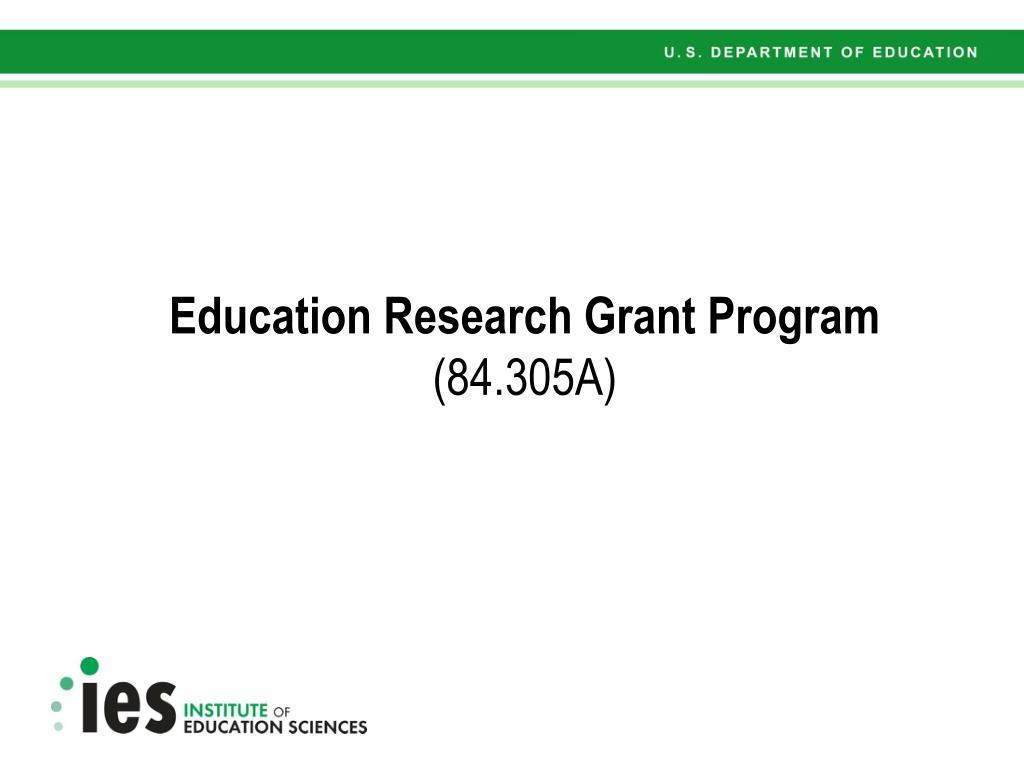 Education Research Grant Program