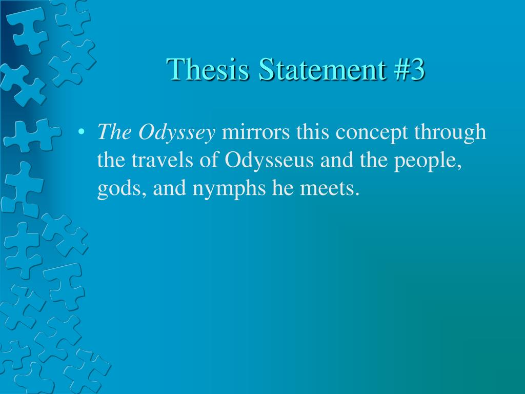 the odyssey thesis essays
