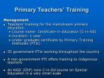 primary teachers training