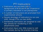 pti instructors
