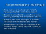 recommendations multilingual