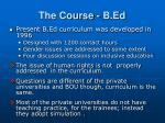 the course b ed