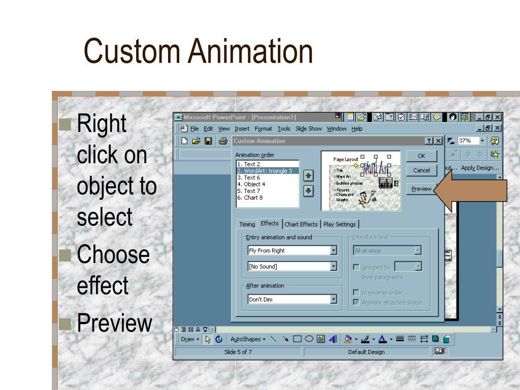 Custom Animation