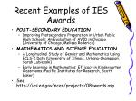 recent examples of ies awards14
