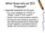 what goes into an ies proposal