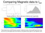 comparing magnetic data to i sat