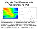 magnetic field measurements yield density as well