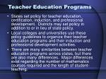 teacher education programs
